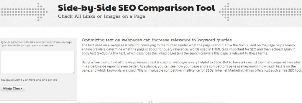 Side SEO Comparison Tool