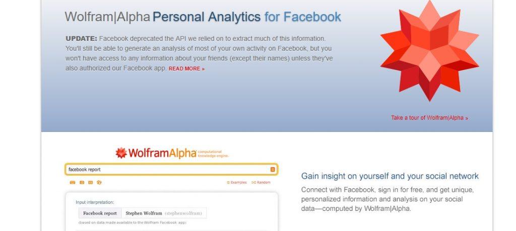 WolframAlpha Personal Analytics