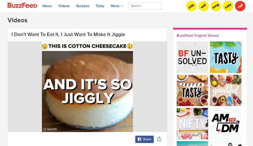 Пример видео в BuzzFeed